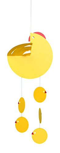 Flensted Mobiles Nursery Mobiles, EasterHen Mother Yellow