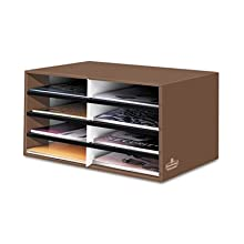 Bankers Box Decorative 8 Compartment Literature Sorter, Letter, Mocha Brown (6130301)