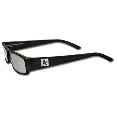 MLB Black Reading Glasses, +1.25, Oakland Athletics