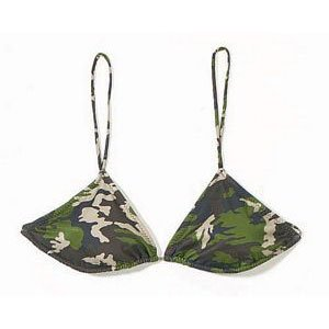 Woodland Camo String Bikini Top (No Returns On Swimwear)