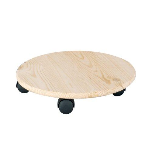 zeller-13555-peana-con-ruedas-para-macetas-madera-de-pino-diametro-35-cm-resistencia-100-kg