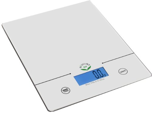 NewlineNY 11 Lb Capacity Touch Pad Digital Kitchen Scale, SBK-KF201-WH White