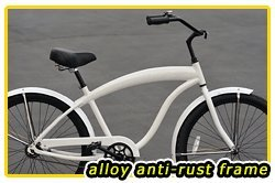 Anti-Rust Aluminum Frame, Fito Modena EX Alloy 1-speed - White, Men's 26