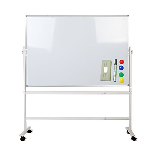 ZHIDIAN 5635 Inches Double-Sided Magnetic Easel-Style Dry Erase Boards Mobile White board, dry erase board Aluminium Frame and Stand (Dry Erase Board With Wheels compare prices)