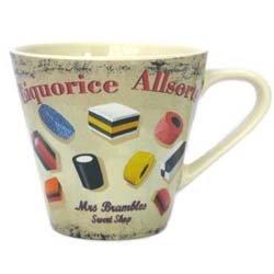 Martin Wiscombe 1-Piece Stoneware Small Mug Liquorice Allsort, Assorted Colors