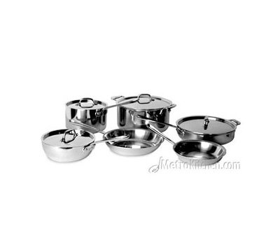 All-Clad Tri-Ply Stainless Steel 10 pc Cookware Set - MetroKitchen Exclusive (401891)
