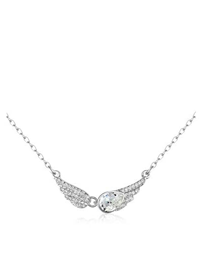 Absolute Crystals Set catenina e pendente Angel Wings Argentato
