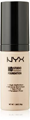 NYX Cosmetics High Definition Photogenic Foundation Nude