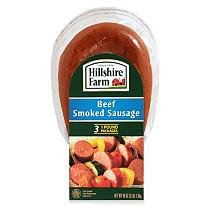Hillshire Farm Beef Sausage Smoked 12 Oz Pack Of 3