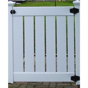 4' White Semi-Privacy PVC Gate