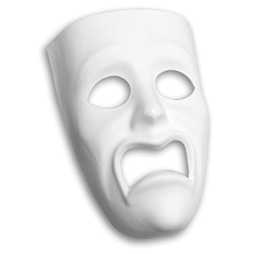 Creativity Street Plastic Mask, Sad Face - 1