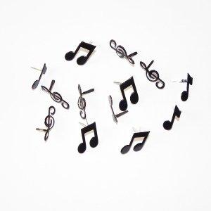 RAYHER HOBBY 7896000 - Encuadernadores (25 mm, 3 tipos, 14 unidades, en envase blíster), diseño de notas y claves musicales