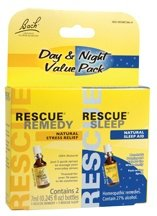 Bach Flower Remedies Day & Night Value Pack Rescue® Remedy & Rescue® Sleep -- 7 mL