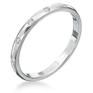 VVS Diamond Real Wedding Band Anniversary Ring 14K Gold