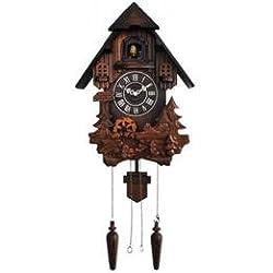 Music Hand Carved Satinwood Quartz Cuckoo Wall Clocks