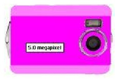 Digital Blue Megapixel Camera Pink