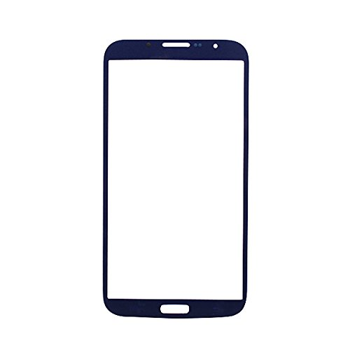 Lcd Screen Front Lens Glass Cover Blue For Samsung I9200 Galaxy Mega 6.3