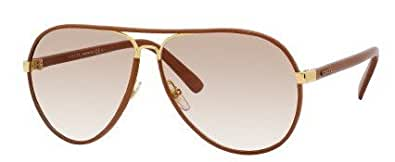 Amazon.com: Gucci GG2887/S Sunglasses-0UYZ Cuir Leather ...