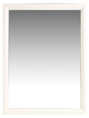 White Vanity With Mirror front-37815