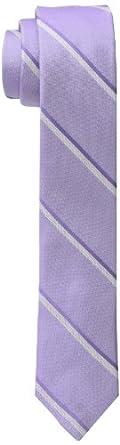 Calvin Klein Men's Indy Slim Stripe Tie, Purple, One Size