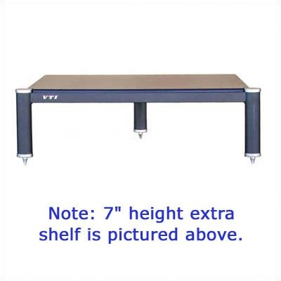 "Bl304 Additional Shelf - 9"" High Shelves: Black, Poles/Caps: Black Poles/Gold Caps"