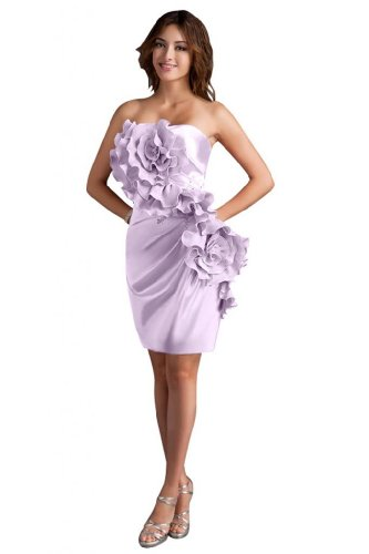 31YrMkOmr6L Sale off: Emma Y Lady Womens Strapless Handmade Flower Short Dress