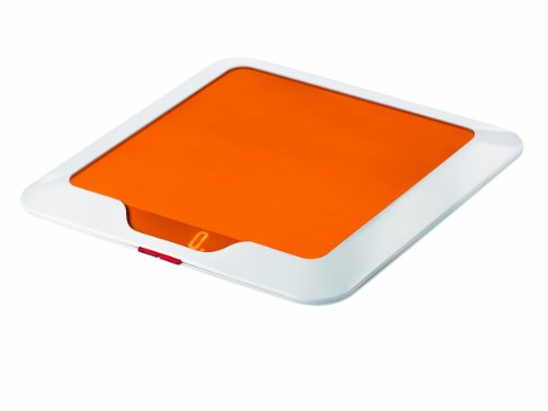 Guzzini 16850045 Balance de Cuisine Electronique Slim Orange Transparent 2 x 23 x 23 cm