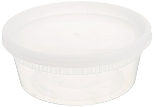 Green Direct Plastic Storage Containers / Reusable Lunch Containers / Microwave Safe Food Containers, Durable, Freezer and Dishwasher Safe (40, 8 oz) (Round Ice Cream Container compare prices)