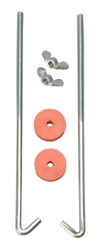Road Power 966-12 J Hook Battery Hold down bolts, 2-Pack, Chrome, 12-Inch