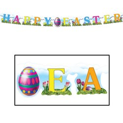 Happy Easter Streamer Party Accessory (1 count) (1/Pkg)