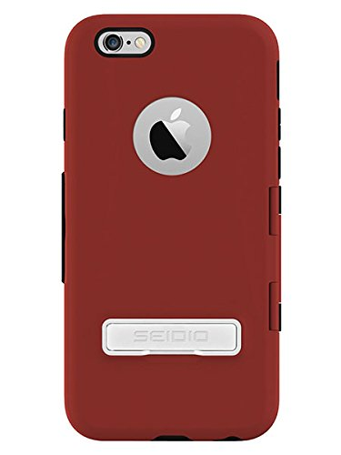 Seidio Capsa Touchview Case With Metal Kickstand For Apple Iphone 6 - Retail Packaging - Red