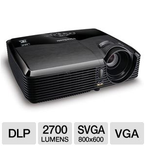 Sale!! ViewSonic PJD5123 SVGA DLP Projector  120Hz/3D Ready, 2700 Lumens, 3000:1 DCR