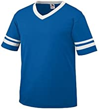 Sleeve Stripe Jersey - ROYAL - LARGE