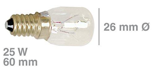 Universal Lampe E14 25W 230V Kühlschrank Gefrierschrank