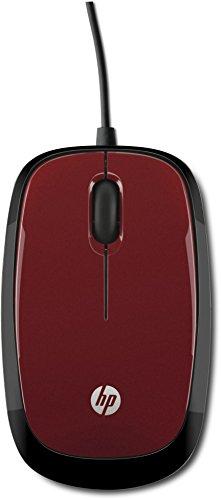 HP X1200 Mouse Cablato, Rosso
