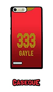 Caseque IPL Royal Challengers Banglore Gayle Jersey Back Shell Case Cover For Huawei P7 Mini