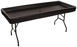 Chillin Products Fill 'N Chill Party Table, Black, Plastic, 73 Inches