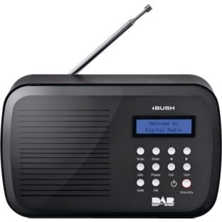 Bush NE3116 Portable Digital DAB/FM Radio - Black , Purple, Silver