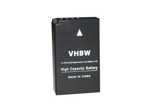 vhbw Akku 850mAh (7.4V) für Kamera Nikon Nikon 1, 1 J1, 1 J2, 1 J3, 1 S1, 1 AW1, V3, CoolPix A wie EN-EL20, EN-EL20a.