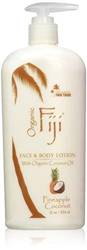 Organic Fiji Nourishing Face & Body Lotion, Pineapple Coconut, 12-Ounces