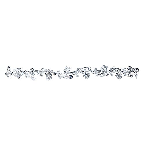 Novia-Flores-de-Cristal-baado-en-plata-Diadema-Tiara