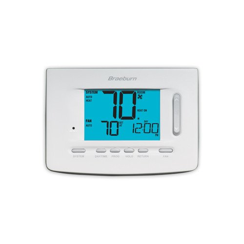 Braeburn 5220 Digital 5/2 Programmable Thermostat with 5 Square Inch Area Displ