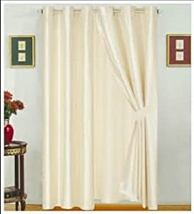 amazon com modern beige faux silk satin windows curtains