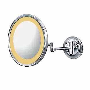 Aptations Kimball & Young Lighted Wall Mirror 5X- Hardwire - Led Brushed Nickel Single Side 92475Hw front-722550