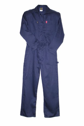 Lapco Cvin9Ny-6Xl Reg Heavy Duty Flame Resistant Contractor Coverall, Navy, 6X-Large, Regular