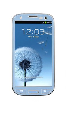 Samsung Galaxy S3 I9300 Aluminium Protective Screen Film Sticker Skin Full Body Matte Anti Finger Anti Glare Screen Protector Guard Film For Luxury Looks Diamond Cutting Siii (Skyblue)