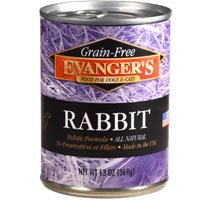 EVANGER\'S 776411 12-Pack Grain Free Rabbit for Dogs and Cats, 13-Ounce