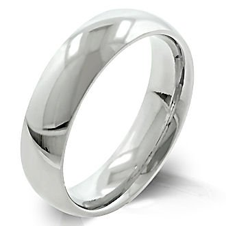 5mm Comfort Fit Domed 316 Stainless Steel Couples Unisex His n Hers Wedding Band Ring, Indiana, size 5.0