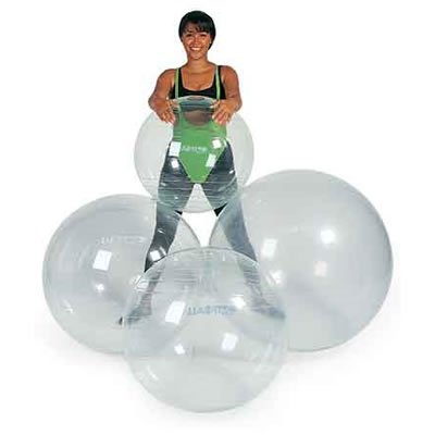 New Opti Swiss Fitness Exercise Ball TRANSPARENT
