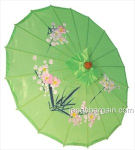 Japanese Chinese Umbrella Parasol 22in Green 157-6